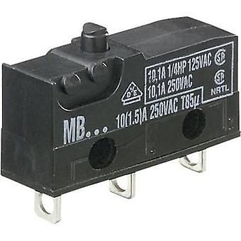 Microswitch 250 Vac 10 A 1 x On/(On) Hartmann MBF5A momentary 1 pc(s)