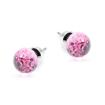 Pink crystal earrings EMB12.1