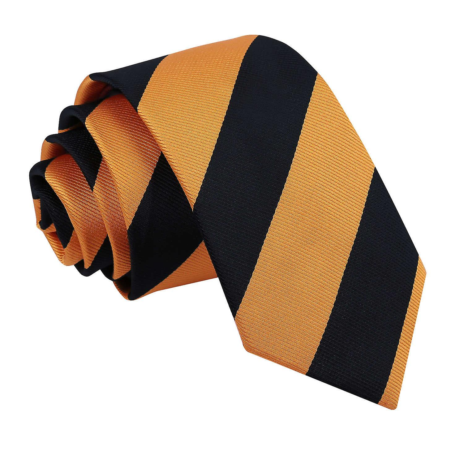 Striped Orange & Black Slim Tie