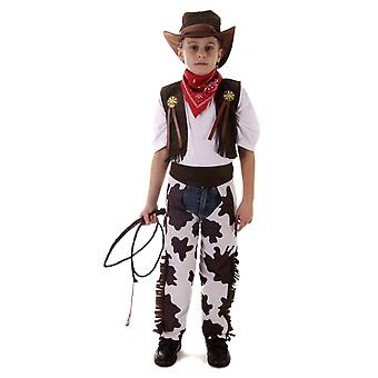 Cowboy Fancy Dress Costume Small Age 4-6