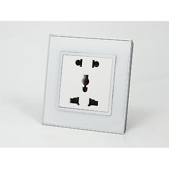 I LumoS come lusso bianco specchio vetro 5 Pin presa multipla singole prese