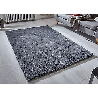 Softness Charcoal  Rectangle Rugs Plain/Nearly Plain Rugs