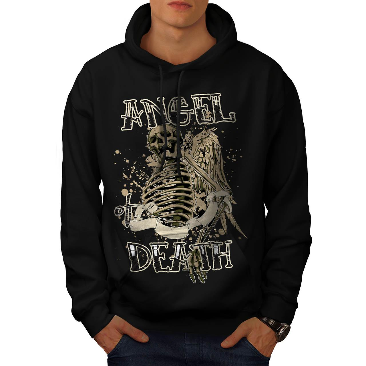 Angel Death Halo Wing Hell Gate Men Black Hoodie | Wellcoda