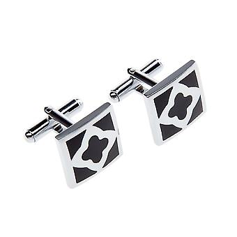 Marcell Sanders cufflinks black Kiev stainless steel