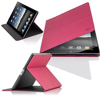 Slim Angle Cover case for Apple iPad 2 3 4 - Hot Pink