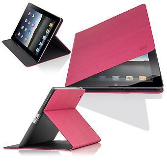 Slim hoek Cover case voor Apple iPad 2 3 4 - Hot Pink