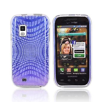 OEM Verizon Double Cover Case for Samsung Galaxy S Fascinate i500 (Purple & Blue