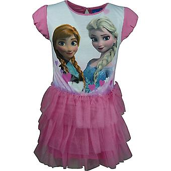 Disney Frozen Girls Elsa & Anna Fancy Short Sleeve Dress