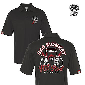 Gas monkey garage polo shirt hot rod