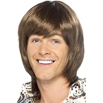 Hit menn wig disco danser 70 partiet parykk Brown