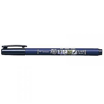 Tombow Fudenosuke kalligrafi hård spids Pen sort blæk