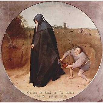 Pieter Bruegel the Elder - Cut out the Heart Poster Print Giclee