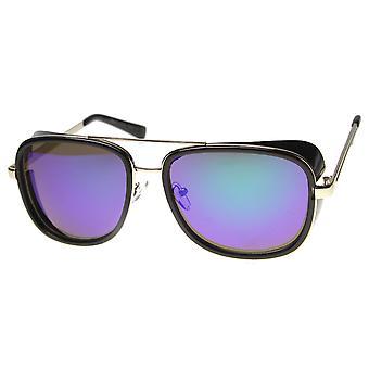 Óculos de sol aviador unissex com UV400 protegido lente espelhada