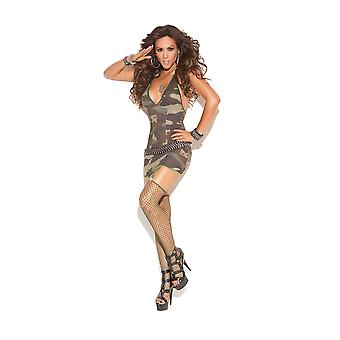 Vivace EM-8766 Mini dress with attached garters and diamond net stockings