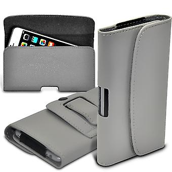 Quarice n900 Horizontal Faux Leather Belt Holster Pouch Cover Case (Grey)