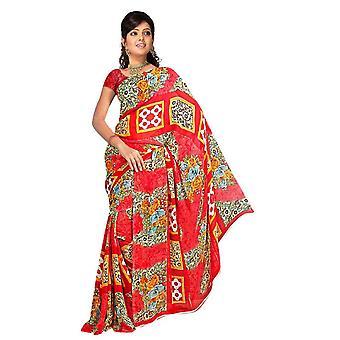 Banhi Georgette afgedrukt Casual Saree Sari buikdansen stof