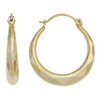 Hoop earrings earrings tyre 585 gold yellow gold earrings gold diameter 20.5 mm