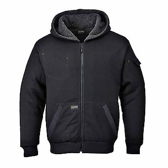 Portwest - Pewter Classic Workwear Sherpa Pile Lined Jacket With Hood