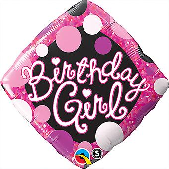 Qualatex 18 Inch Birthday Girl Diamond Foil Balloon
