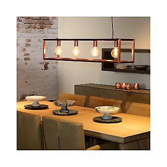 Lucide Geometric Pendant Retro Island Bar With Copper Finish