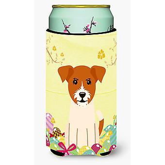 عيد الفصح البيض جاك راسل الكلب صبي طويل القامة المشروبات عازل نعالها