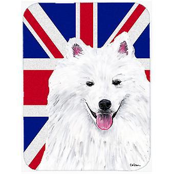Amerikaneren Eskimo med engelsk Union Jack britiske flagget Glass kutte bord stor S