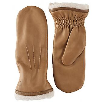 Pittards Leather Mittens - Pebble Brown