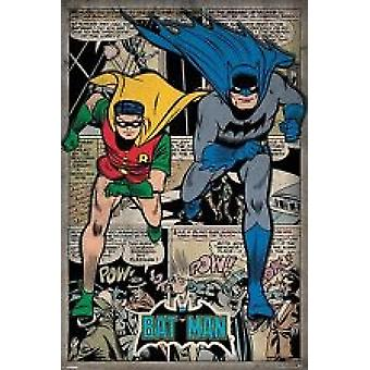 Batman and Robin - Comic Montage Poster Poster Print