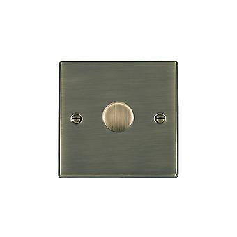 Hamilton Litestat Hartland Antique Brass 1g 600W 2 Way Dimmer AB