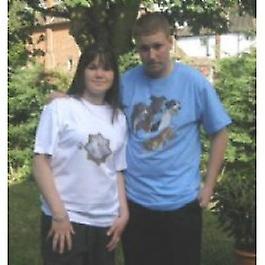 T-shirts Greyhound Design F & Bx-grand-bleu