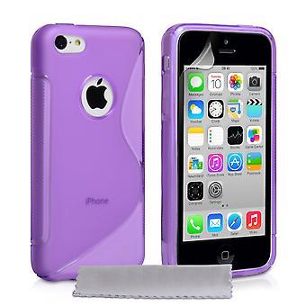 Caseflex Iphone 5c siliconen Gel S-Line koffer - paars