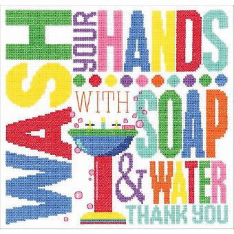 Wash Your Hands Counted Cross Stitch Kit-10