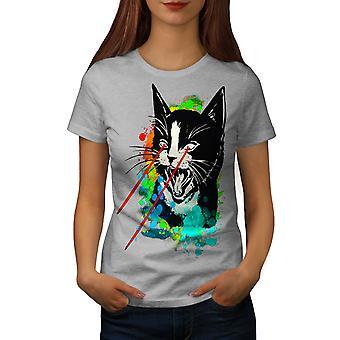 Laser arga färgstarka kvinnor GreyT-skjorta | Wellcoda