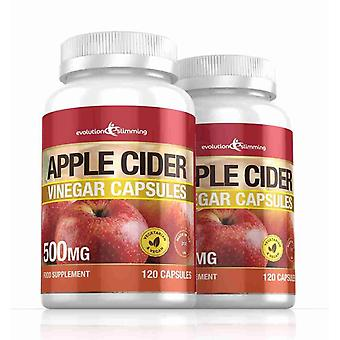 Apple Cider Vinegar 500mg Capsules - 240 Capsules - Fat Burner - Evolution Slimming