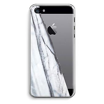 iPhone 5 / 5S / SE Transparent Case - Striped marble