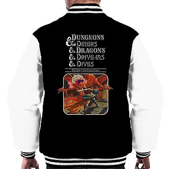 Dungeons And Dragons Drive Ins And Dives Men's Varsity Jacket