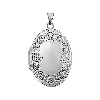 Sterling Silver Oval Shaped Locket 25.75x19.25mm  - 3.3 Grams