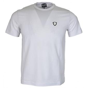 EA7 by Emporio Armani 8nptl7 Cotton Plain Stitched Logo Stretch White T-shirt