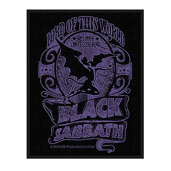 Black Sabbath Patch Lord Of This World Band Logo new Official Black Woven