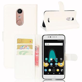 Tasche Wallet Premium Weiß für Wiko Upulse Lite Schutz Hülle Case Cover Etui Neu