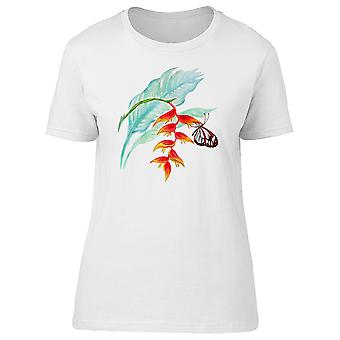 Heliconia Tropical Butterfly Tee Women's -Image by Shutterstock