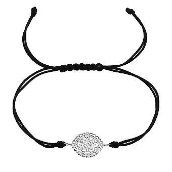 Filigraan - 925 Sterling Zilver + Nylon koord snoer armbanden - W37375X