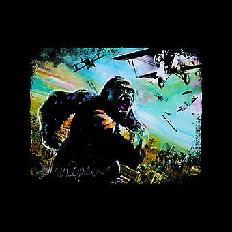Sidney Maurer Original Portrait Of King Kong Vs Planes Kid's Varsity Jacket