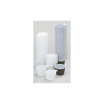 Coffee Cup plastic 21cl brown/white (pkg of 50)