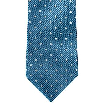 Michelsons London valp tand Spot Polyester Tie - Teal Blue
