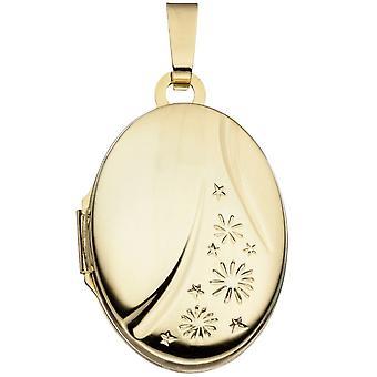 Medaljong ovale anheng 585 gull gul gull anheng medaljong av gull
