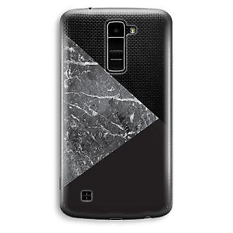 LG K10 (2016) gennemsigtig sag (Soft) - marmor kombination
