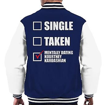 Mentally Dating Kourtney Kardashian Men's Varsity Jacket
