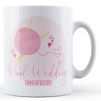Годовщина свадьбы шерсть (7) - печатных кружка