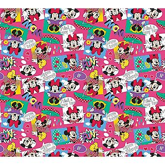 Pair of curtains for the bedroom tray 180x160 centimeter cm Disney Minnie and Mickey
